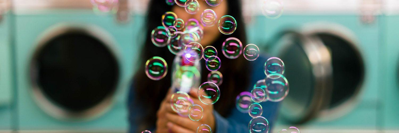 Seifenblasen als Symbol für Filterblasen